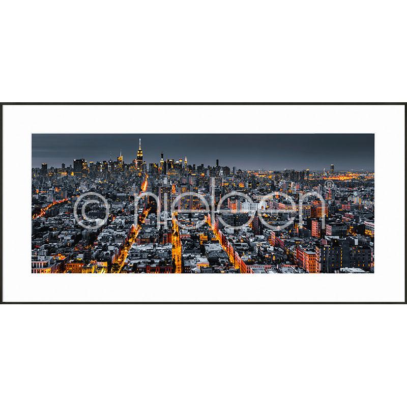 "Gerahmte Kunst ""New York Skyline"" mit Alurahmen C2"