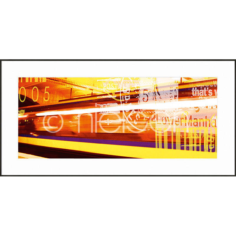 "Gerahmte Kunst ""Metro Lower Manhattan"" mit Alurahmen C2"
