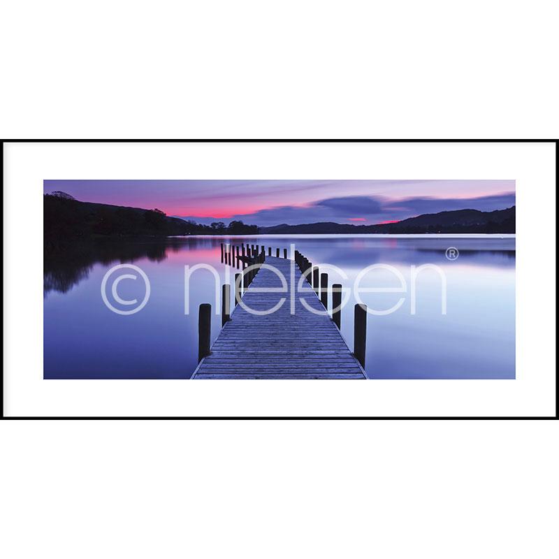 "Gerahmte Kunst ""Footbridge Sunset"" mit Alurahmen C2"