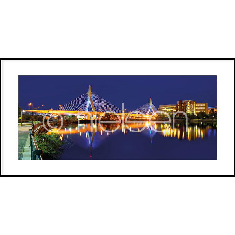 "Gerahmte Kunst ""Bridge at Night"" mit Alurahmen C2"