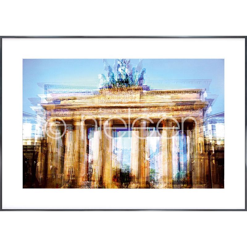 """Gerahmte Kunst """"Brandenburg Gate"""" mit Alurahmen Alpha"""