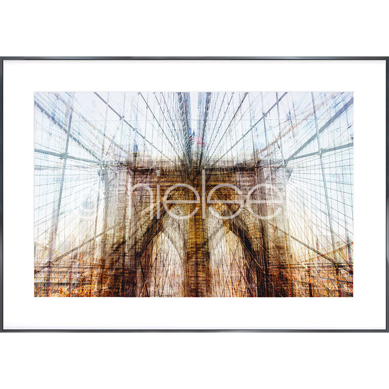 "Gerahmte Kunst ""Brooklyn Bridge"" mit Alurahmen Alpha"