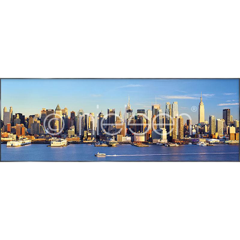 "Gerahmtes Bild ""New York"" mit Alurahmen Alpha"