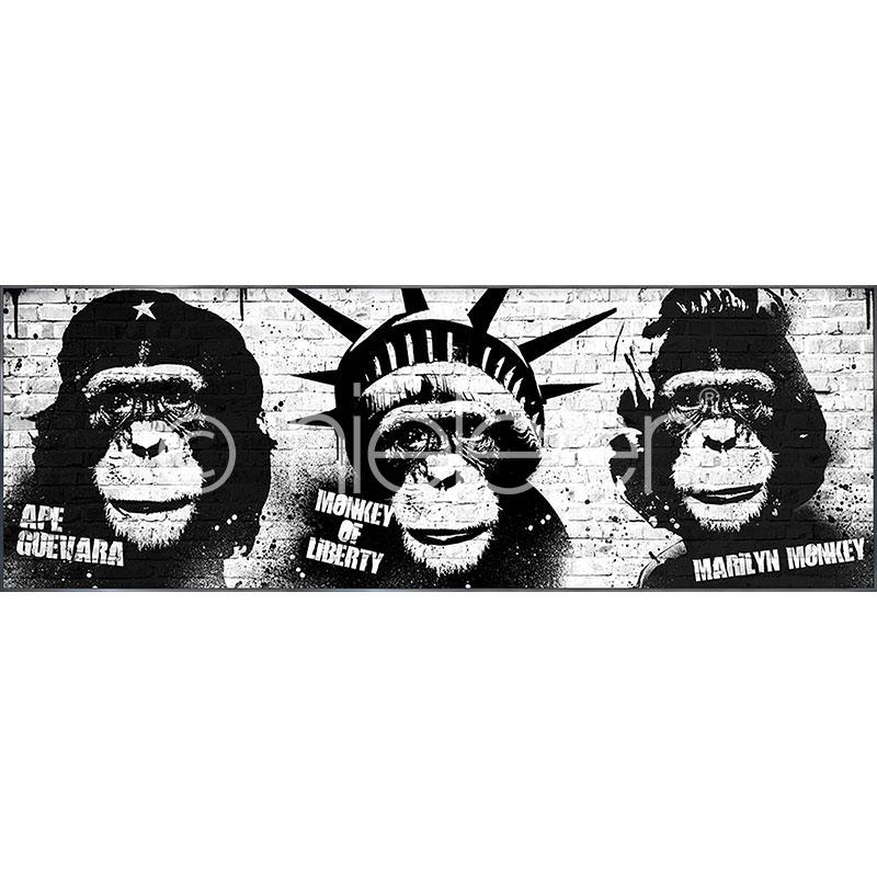 "Gerahmtes Bild ""Monkeys"" mit Alurahmen Alpha"