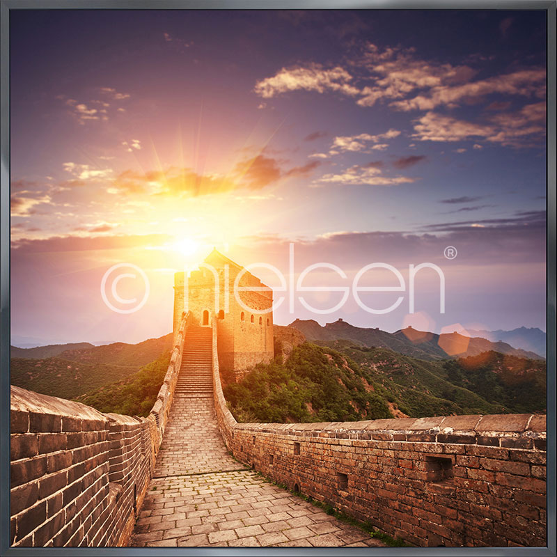 """Gerahmte Kunst """"Chinese Wall"""" mit Alurahmen Alpha"""