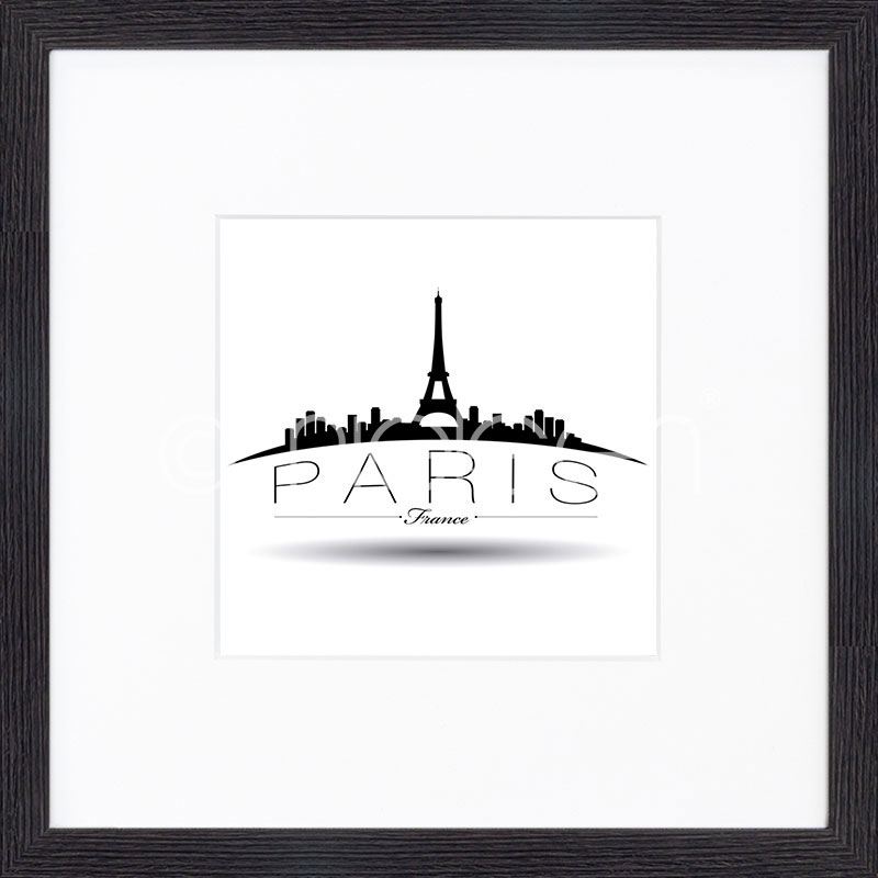 "Gerahmte Kunst ""Paris"" mit Holzrahmen Quadrum"