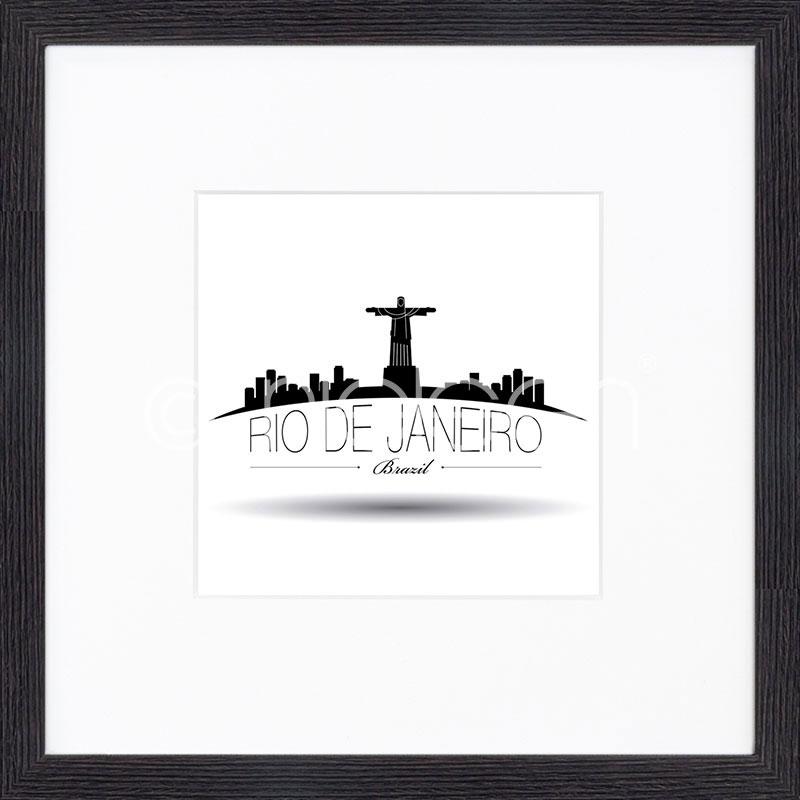 "Gerahmte Kunst ""Rio de Janeiro"" mit Holzrahmen Quadrum"