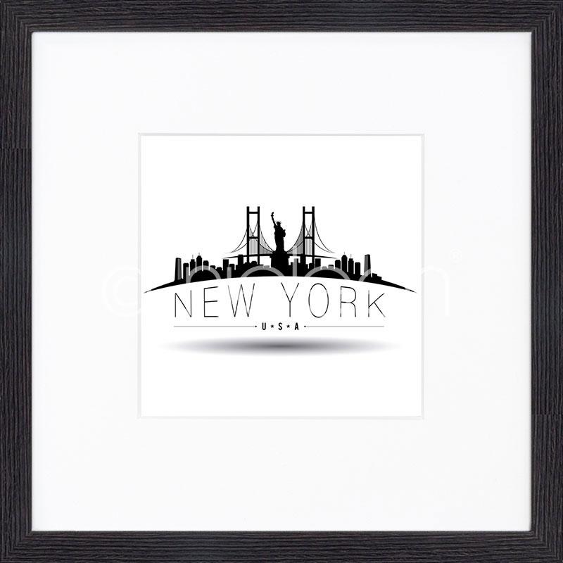 "Gerahmtes Bild ""New York"" mit Holzrahmen Quadrum"
