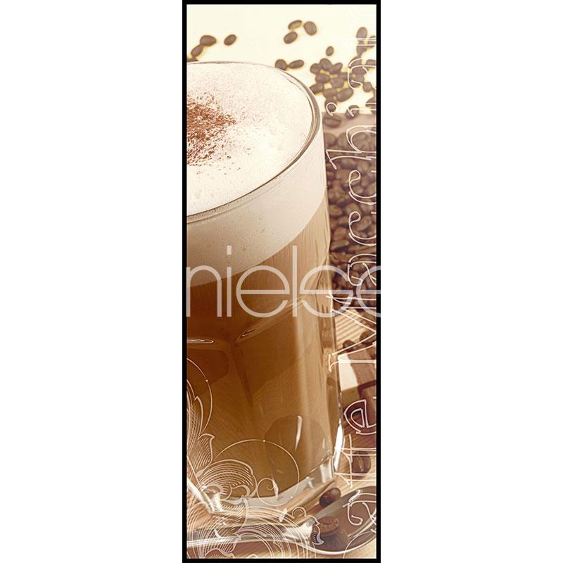 "Gerahmtes Bild ""Coffee Time"" mit Alurahmen C2"