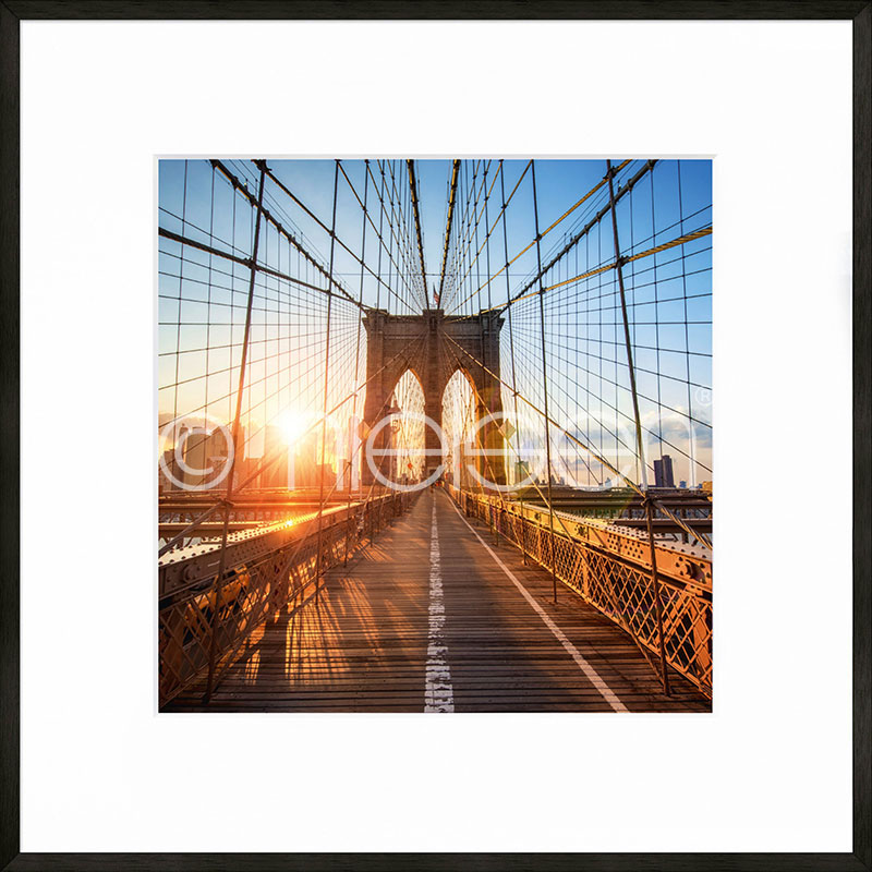 "Gerahmte Kunst ""Brooklyn Bridge"" mit Alurahmen C2"