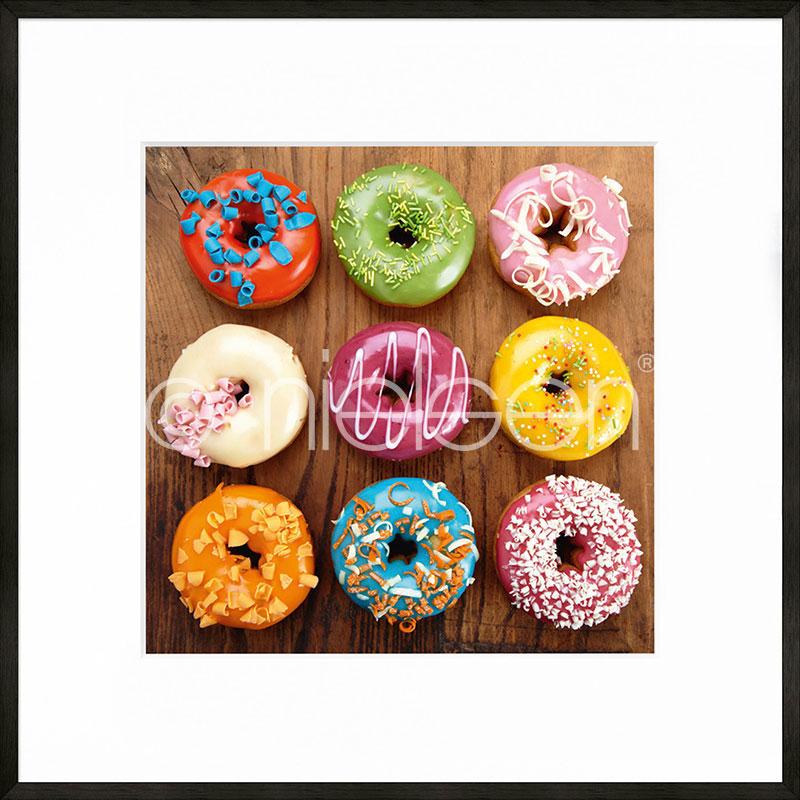 "Gerahmte Kunst ""Donuts"" mit Alurahmen C2"
