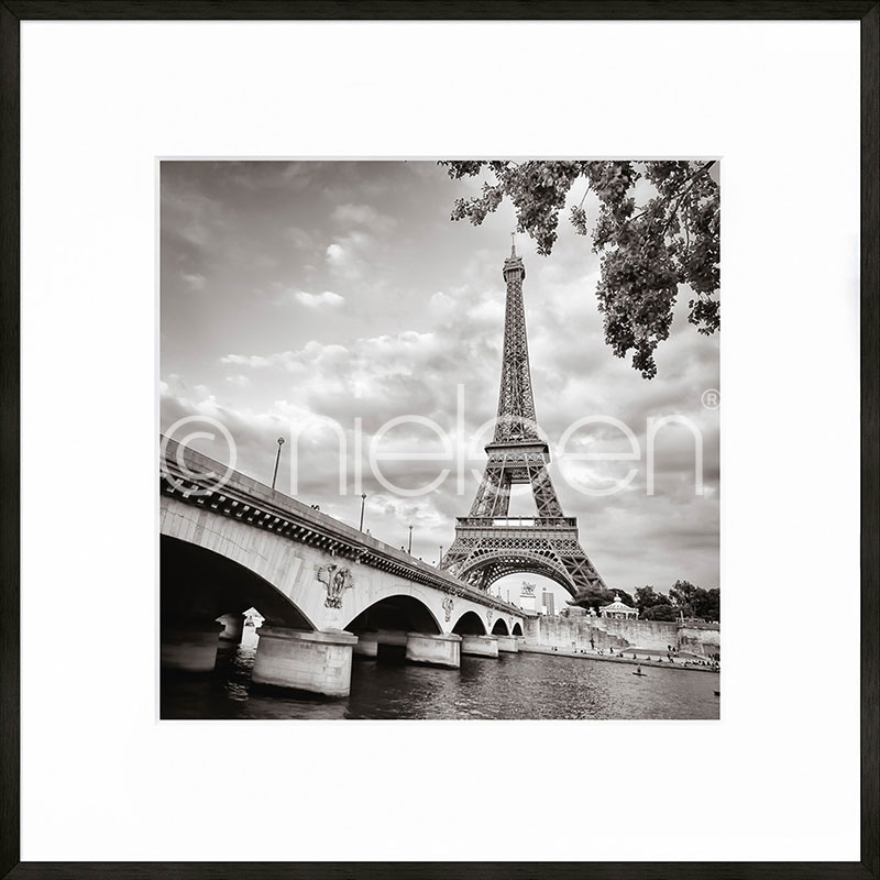 "Gerahmte Kunst ""Paris black and white"" mit Alurahmen C2"