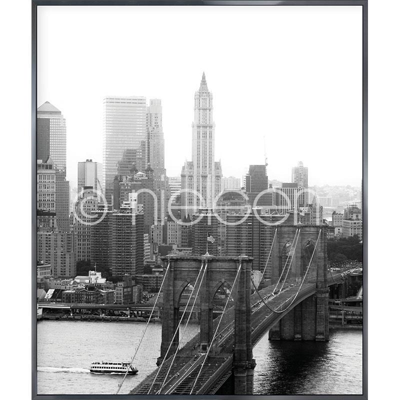 "Gerahmte Kunst ""Brooklyn Bridge"" mit Alurahmen Alpha"