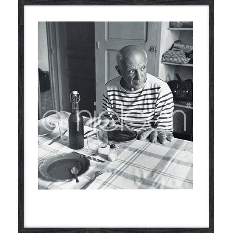 """Gerahmte Kunst """"Les pains de Picasso 1985"""" mit Holzrahmen Quadrum"""