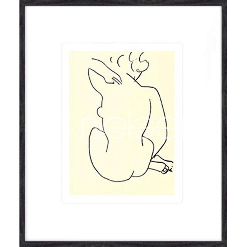"""Gerahmte Kunst """"Nu, 1949 con Matisse"""" mit Holzrahmen Quadrum"""