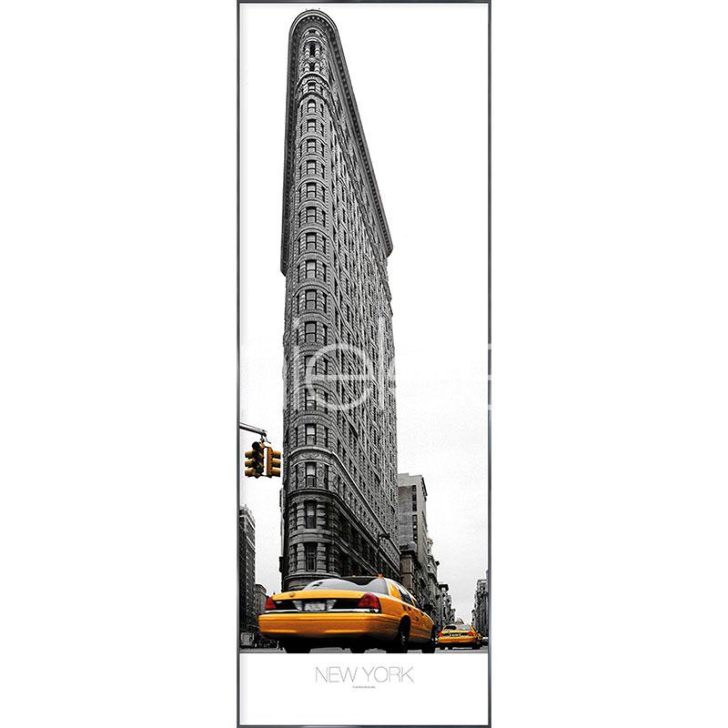 "Gerahmtes Bild ""Flatiron Building"" mit Alurahmen Alpha"