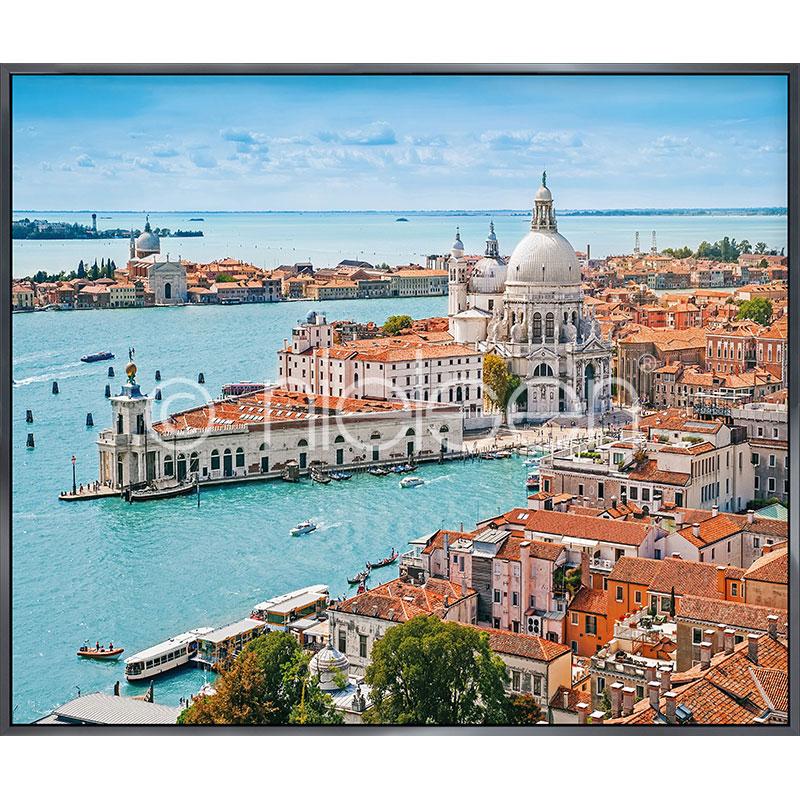 "Gerahmte Kunst ""Venice Santa Maria"" mit Alurahmen Alpha"