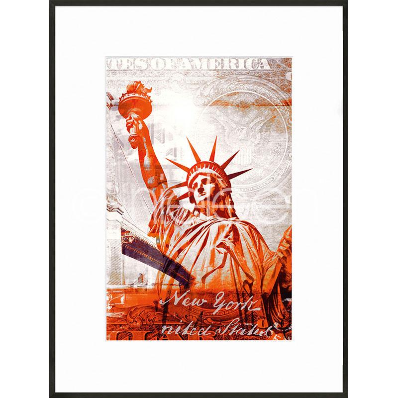 "Gerahmtes Bild ""Statue of Liberty"" mit Alurahmen C2"