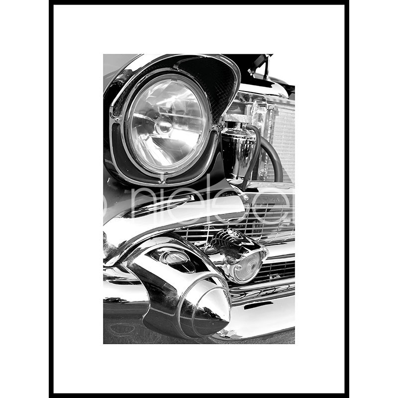 "Gerahmtes Bild ""Car Chrome"" mit Alurahmen C2"