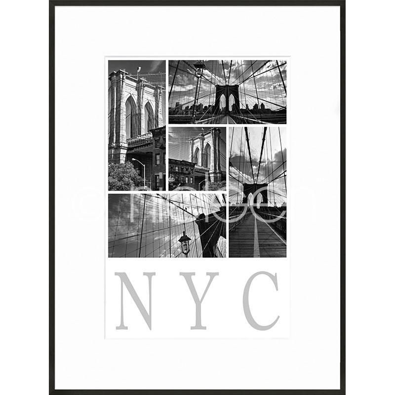 "Gerahmte Kunst ""New York City"" mit Alurahmen C2"