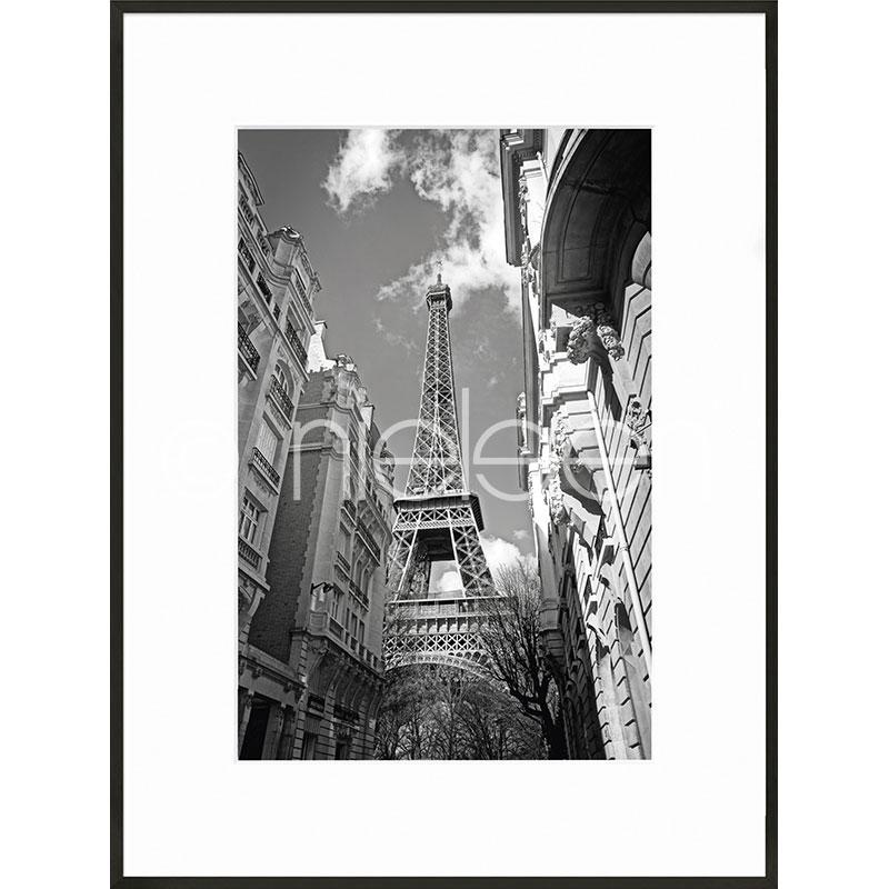 """Gerahmte Kunst """"Eiffel Tower"""" mit Alurahmen C2"""