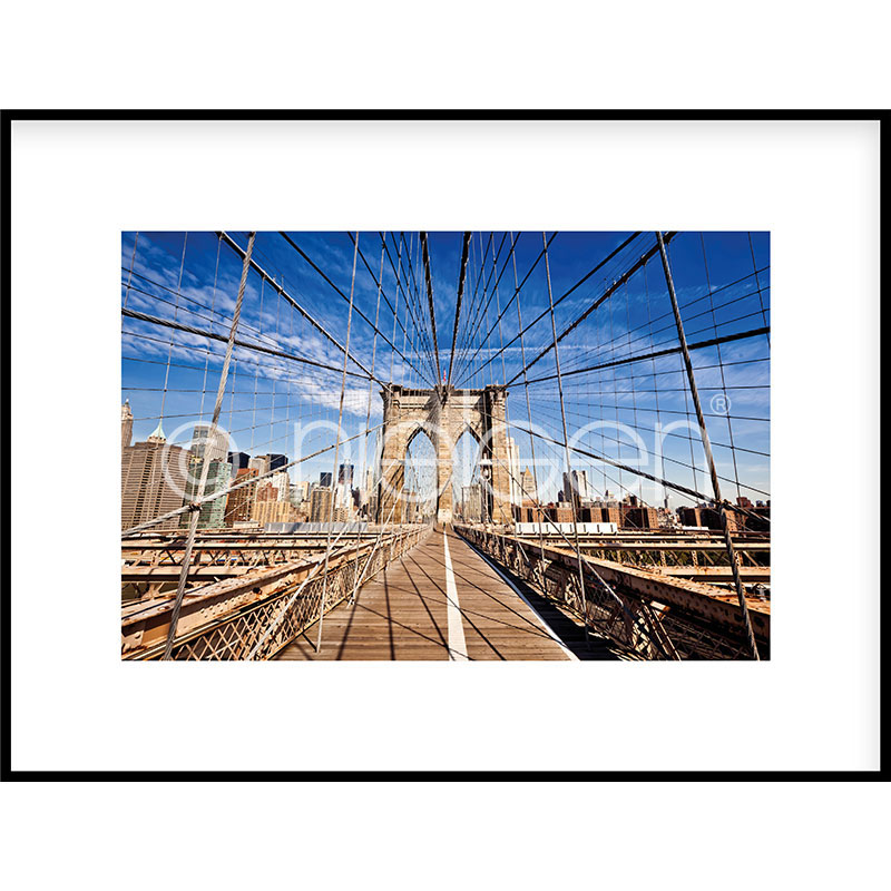 "Gerahmte Kunst ""Brooklyn Bridge"" mit Alurahmen C2"