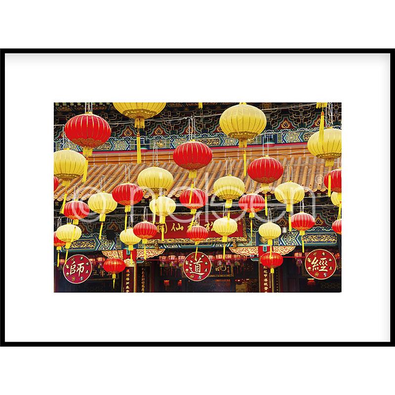 "Gerahmte Kunst ""Buddha Temple"" mit Alurahmen C2"