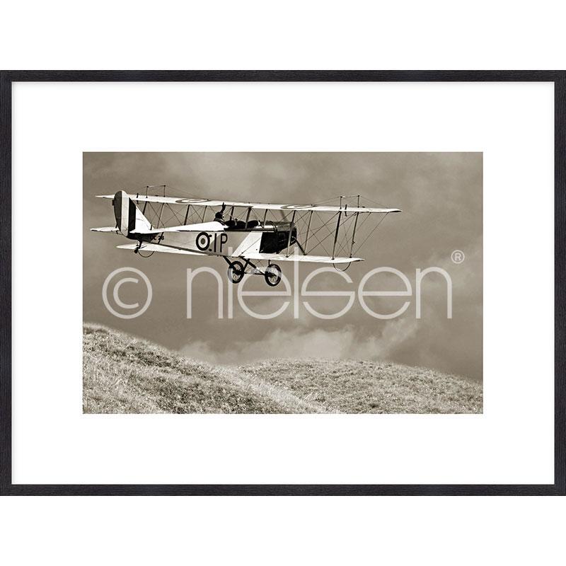 "Gerahmte Kunst ""Historic Plane"" mit Holzrahmen Quadrum"