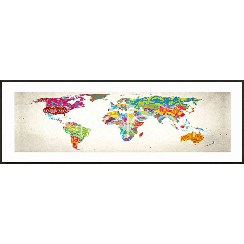 "Gerahmtes Bild ""World Map"" mit Alurahmen C2"