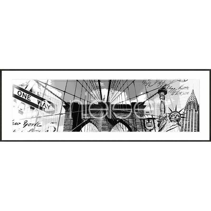 """Gerahmtes Bild """"Brooklyn Bridge"""" mit Alurahmen C2"""