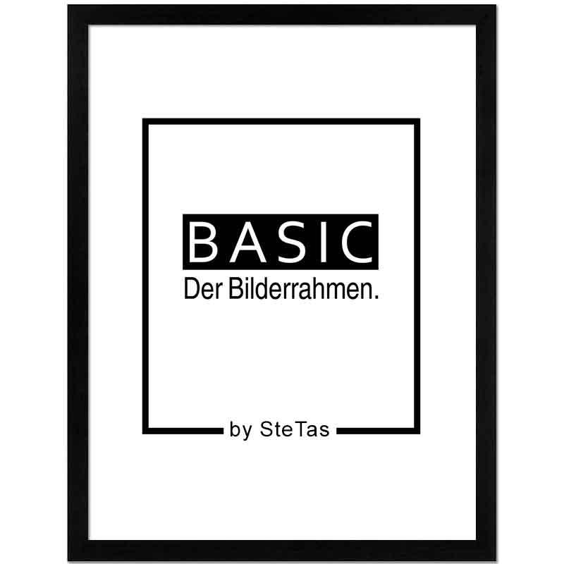 Holzbilderrahmen Basic Schwarz