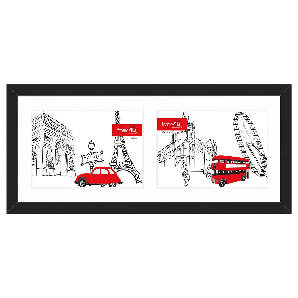 Galerie-Bilderrahmen JAPAN für 2 Bilder schwarz