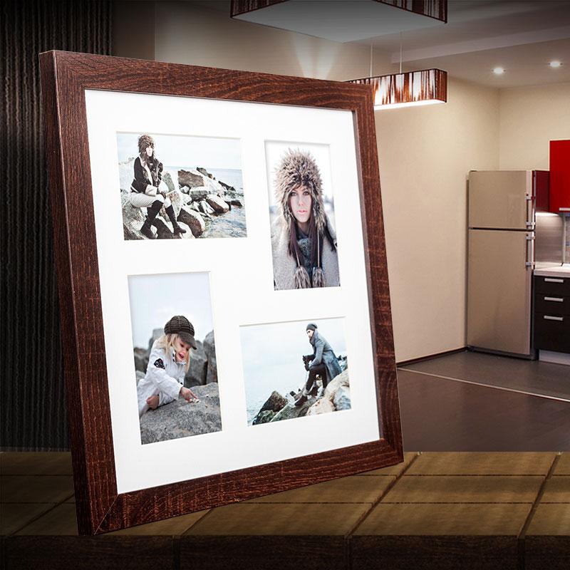 Galerie-Bilderrahmen NARVIK für 4 Bilder dunkelbraun