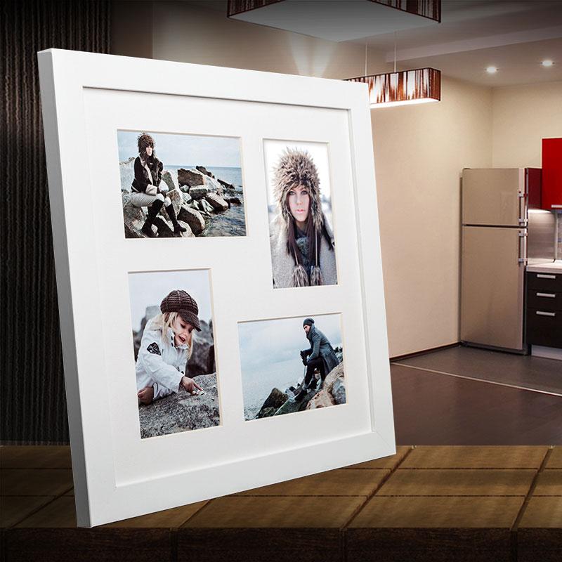 Galerie-Bilderrahmen NARVIK für 4 Bilder weiß