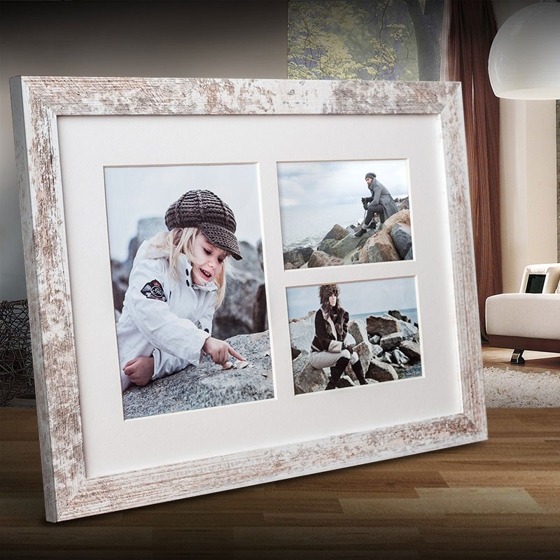 Galerie-Bilderrahmen NARVIK für 3 Bilder shabby