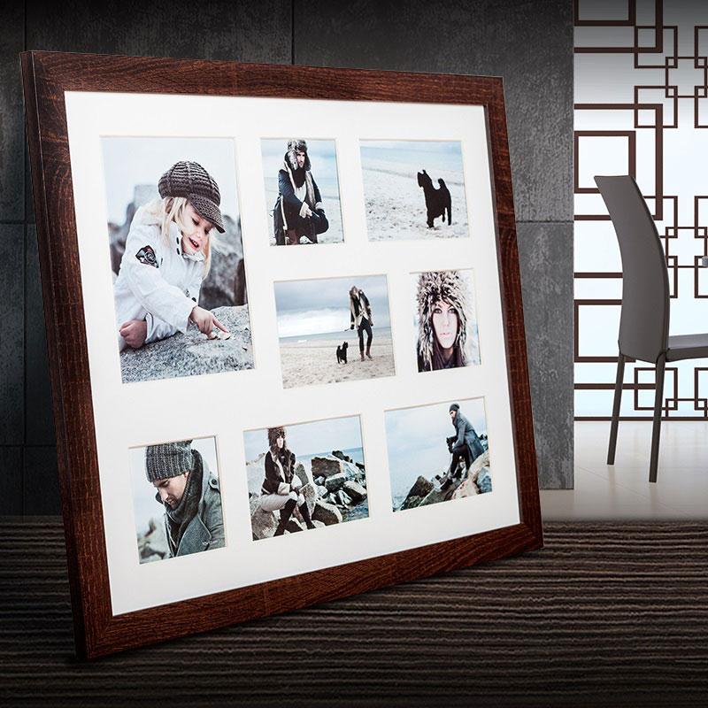 Galerie-Bilderrahmen NARVIK für 8 Bilder dunkelbraun