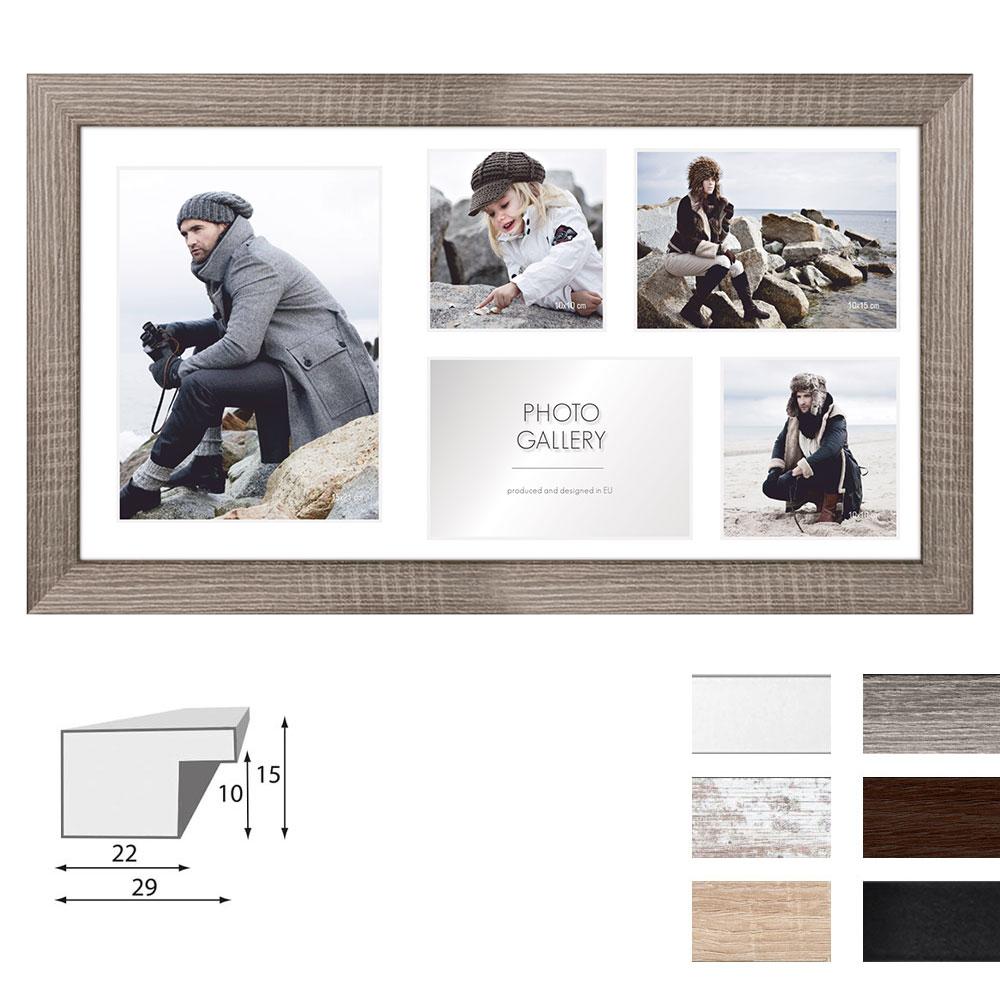 Galerie-Bilderrahmen NARVIK für 5 Bilder