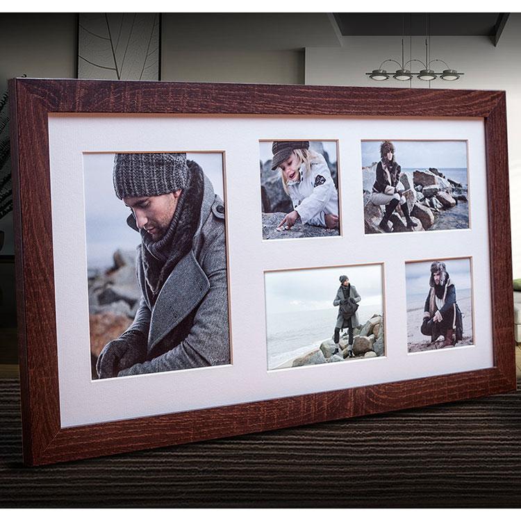 Galerie-Bilderrahmen NARVIK für 5 Bilder dunkelbraun