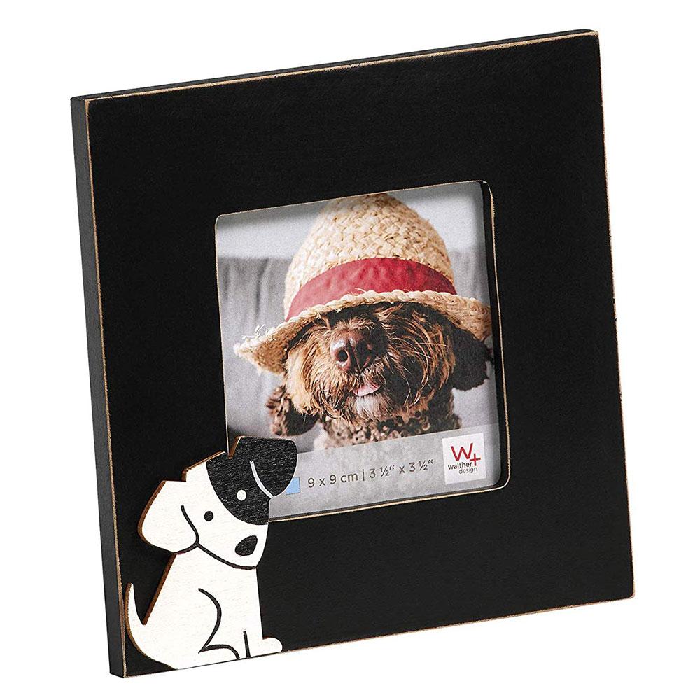 Cats&Dogs Fotorahmen 9x9 cm - Hund schwarz