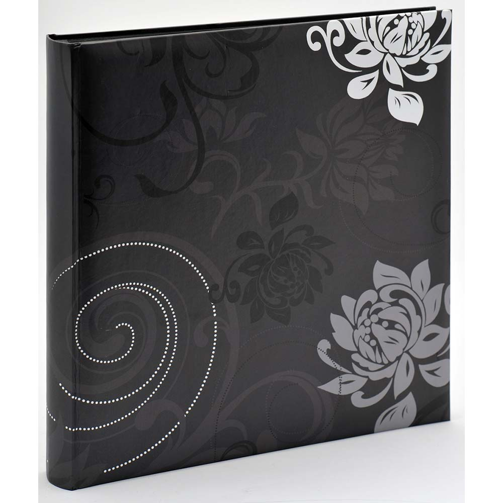 Buchalbum Grindy zum Einkleben, 30x30 cm schwarz