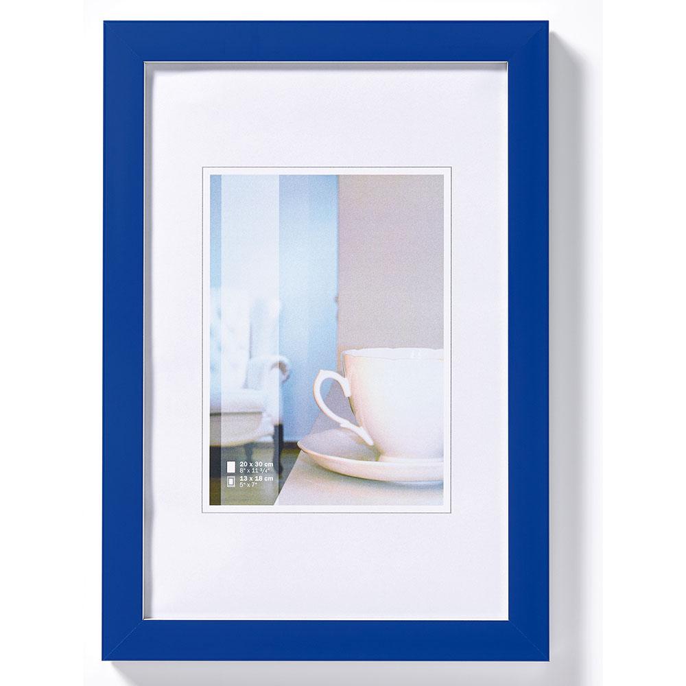 Kunststoffrahmen Ambience Blau, weiße Kante