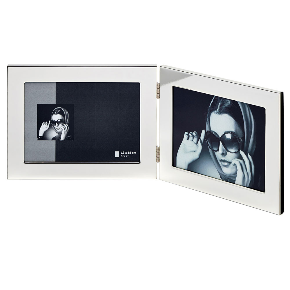 Walther Doppelrahmen Emily - Querformat 13x18 cm - silber ...