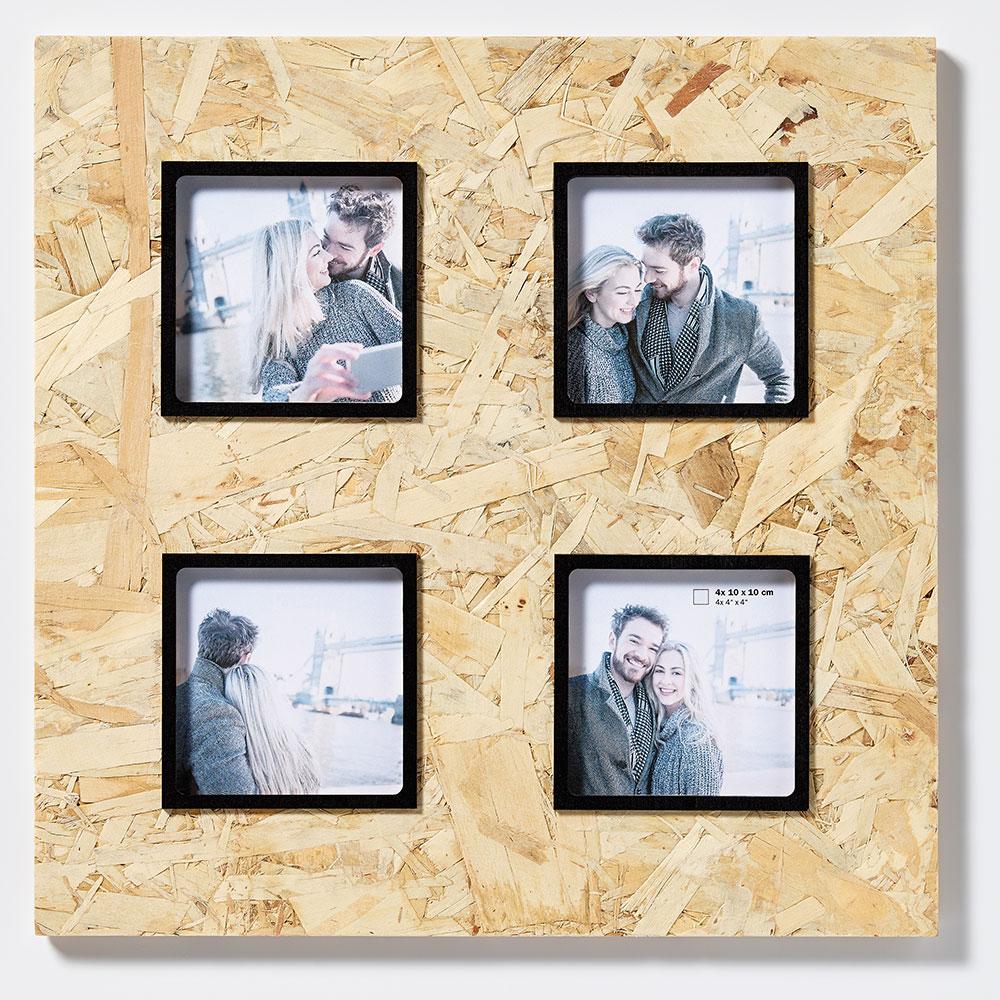 4er Holz-Galerierahmen CHIP braun-schwarz