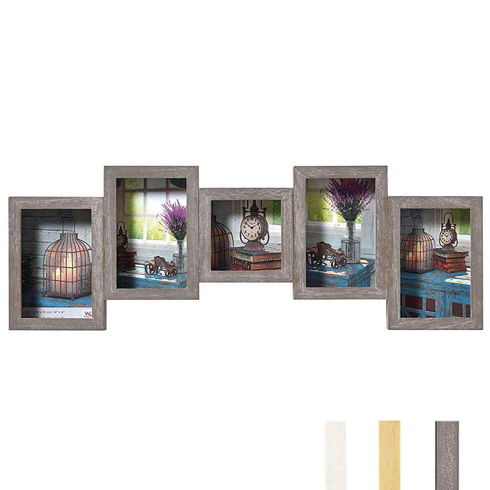 Galerie-Bilderrahmen Rustic 4 + 1 Bilder
