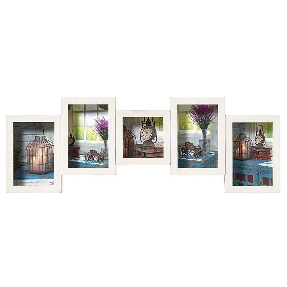 Galerierrahmen Rustic 4 + 1 Bilder weiß