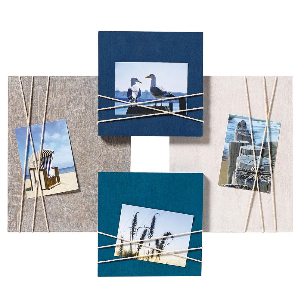 Walther Galerierahmen La Casa für 4 Fotos 8x11 cm - blau ...
