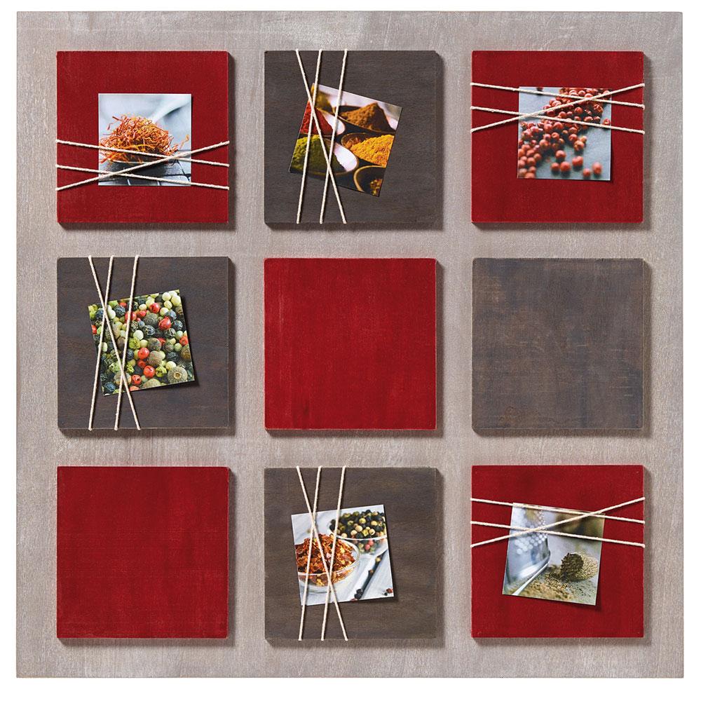Walther Galerierahmen La Casa für 6 Fotos 8x8 cm - rot | AllesRahmen.de