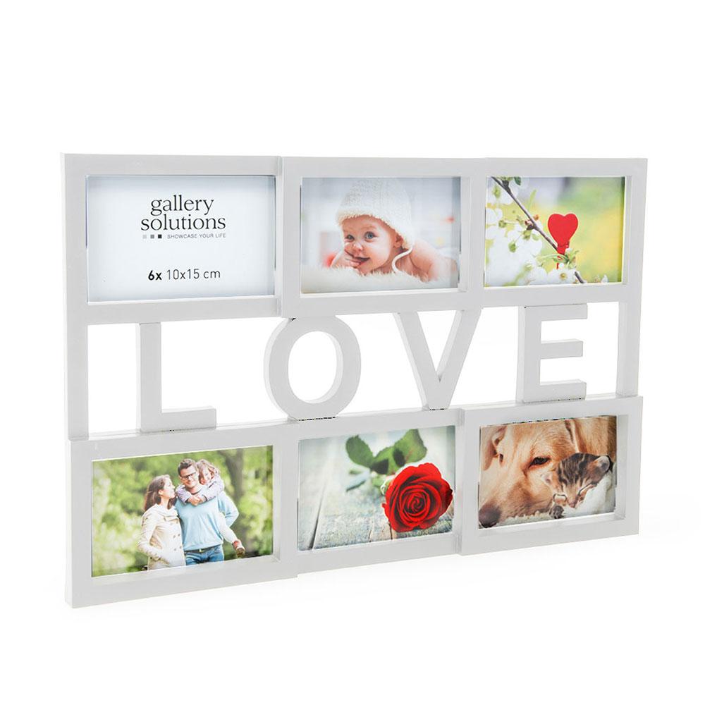 Accent Collage-Bilderrahmen Love 6x 10x15 cm - Set - weiß ...