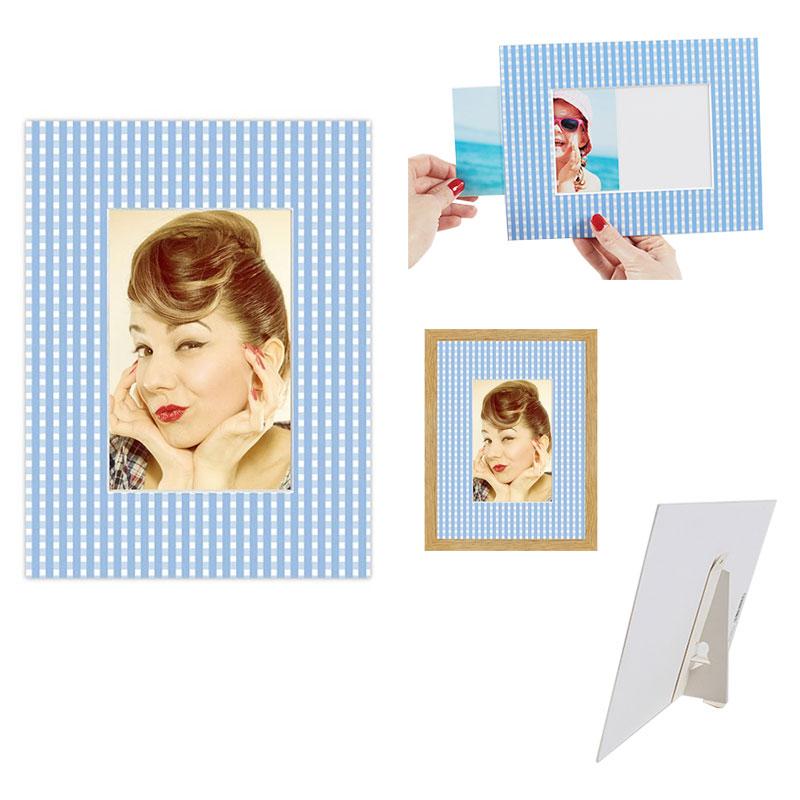 dekoletta foto aufsteller dekowilli 18x24 cm 10x15 cm creme liane. Black Bedroom Furniture Sets. Home Design Ideas