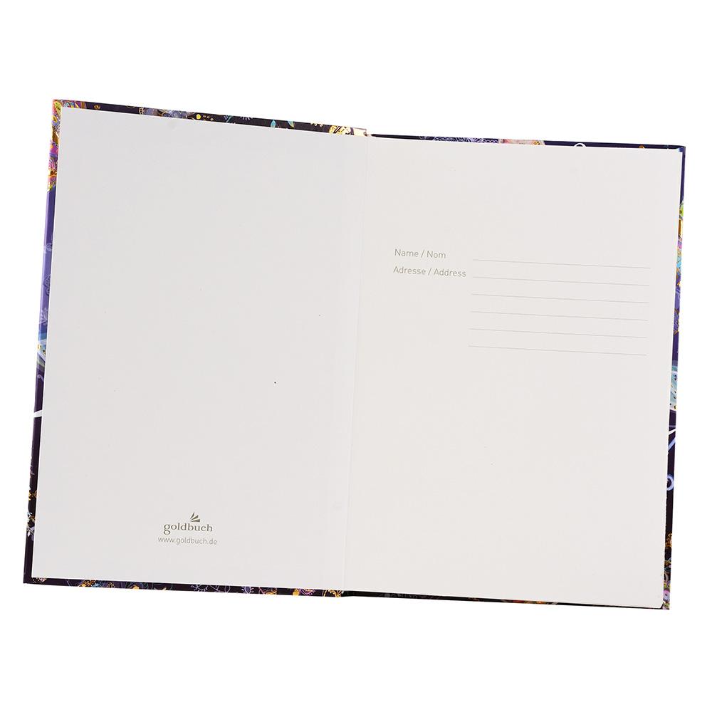 goldbuch notizbuch silver moon nightblue in a5 din a5 200 seiten nightblue. Black Bedroom Furniture Sets. Home Design Ideas